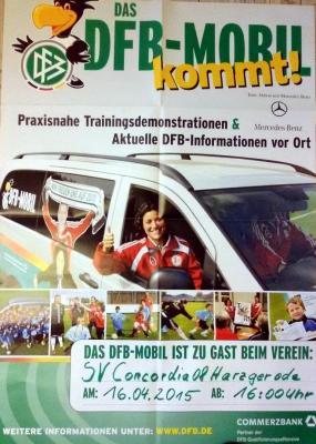 Foto zu Meldung: Concordia 08 Besuch vom DFB- Mobil