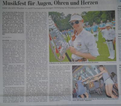 Foto zur Meldung: 47. Musikfest u. Landesmusikfestival Hirschfeld