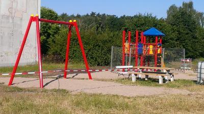 Foto zur Meldung: Unsere Dörfer packen in Eigeninitiative an: Spielplatz für Reichenberg