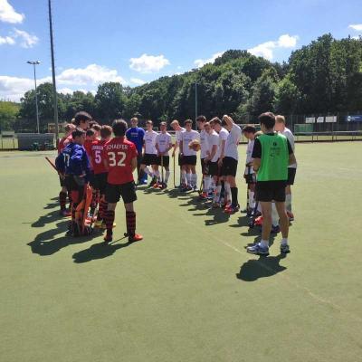 Foto zur Meldung: Hockey: Hitze und Spannung pur bei der MJB