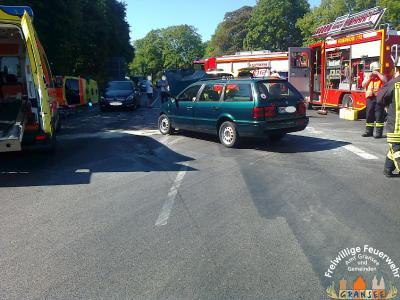 Foto zur Meldung: Verkehrsunfall mit RTW-Beteiligung