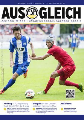 """Foto zur Meldung: Magazin des Fußballverbandes Sachsen-Anhalt """"AUSGLEICH"""", Ausgabe 2/2015, erschienen"""