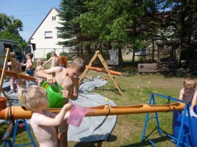 Foto zur Meldung: Zuckertütenfest und Wasserspass in der Kita  Heideland!