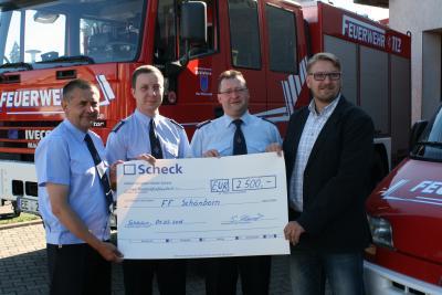 Foto zur Meldung: Allianz unterstützt Freiwillige Feuerwehr