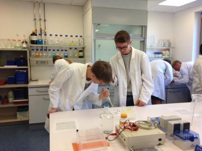 Foto zur Meldung: Dem Täter auf der Spur – Biologieunterricht im Labor