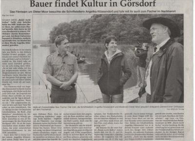 Foto zur Meldung: Bauer findet Kultur in Görsdorf