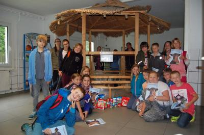 Foto zu Meldung: Besuch der Grundschule Pfefferberg aus Biesenthal