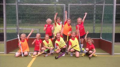 Foto zur Meldung: Hockey: Die Mädchen D waren beim Wuselfest