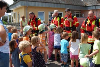 Foto zur Meldung: Brandschutzerziehung mit den Vorschulkindern