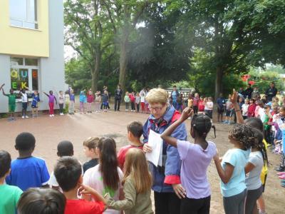 Vorschaubild zur Meldung: Mini-Sportfest: 1. und 2. Klasse