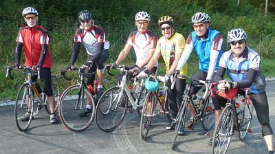 Foto zur Meldung: Abschlußfahrt 2014 der Radsportgruppe