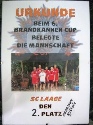 Foto zur Meldung: Laager Volleyballer hatten die Hand am Siegerpokal