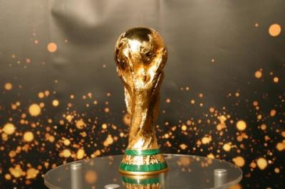Foto zur Meldung: Der FIFA WM-Pokal in Merseburg