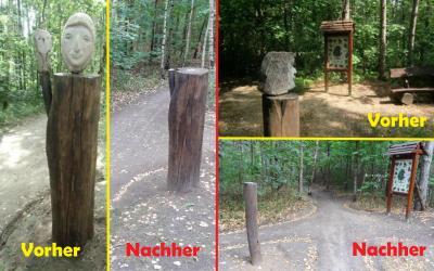 Foto zu Meldung: Vandalismus am Naturlehrpfad