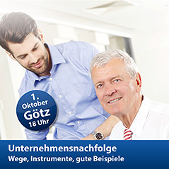 """Foto zu Meldung: """"Unternehmensnachfolge: Wege, Instrumente, gute Beispiele"""" - Treffpunkt Wirtschaft am 1. Oktober 2015 in Götz"""