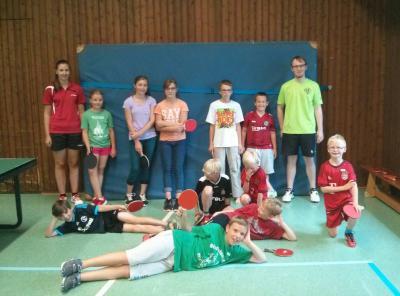 Foto zur Meldung: Tischtennis Ferienpassaktion