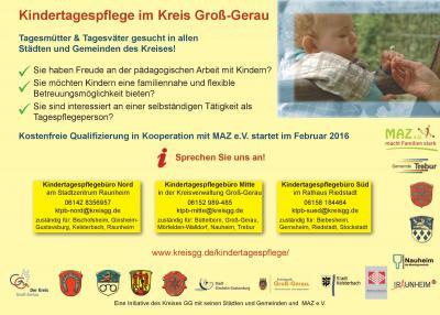 Foto zur Meldung: Nächste Qualifizierung zur Kindertagespflege startet im Februar 2016
