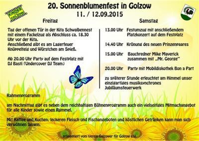 Foto zu Meldung: 20. Sonnenblumenfest in Golzow am 11. und 12. September