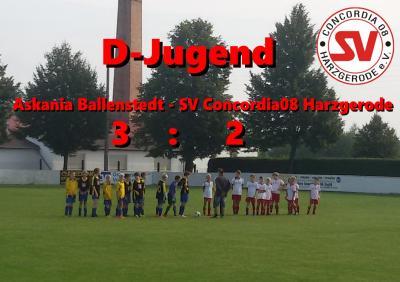 Foto zur Meldung: D-Jugend verliert Spitzenspiel in Ballenstedt