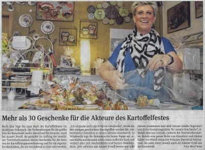 Foto zu Meldung: Mehr als 30 Geschenke für die Akteure des Kartoffelfestes