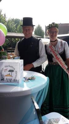 Foto zur Meldung: Fremdenverkehrsverein Brück e.V. präsentierte sich auf dem Flämingmarkt in Wiesenburg