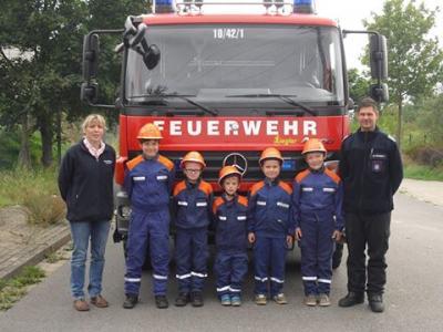 Foto zur Meldung: Floriangruppe bei der Jugendfeuerwehr Perleberg