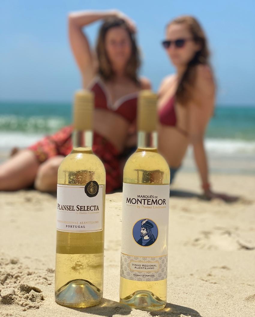 Wein am Strand