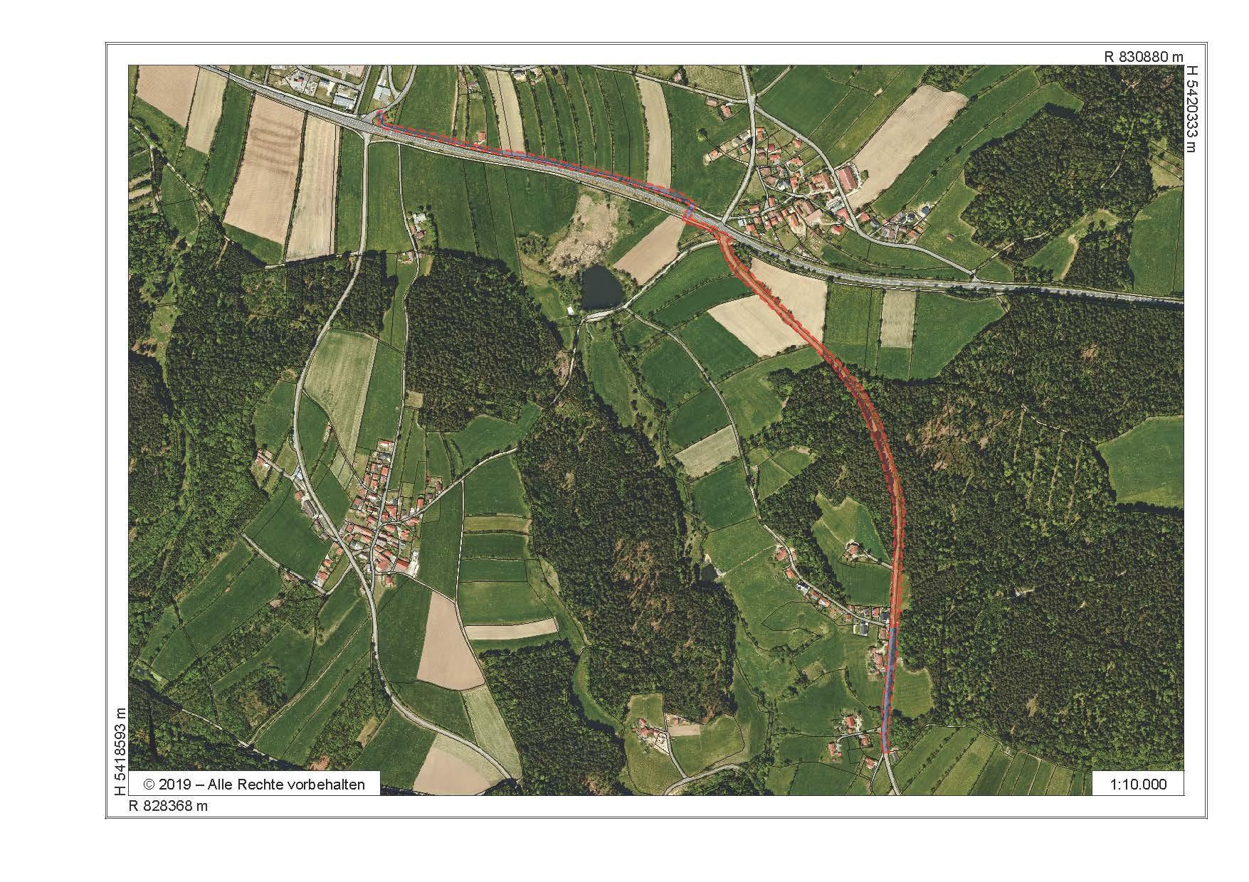 Umleitung Radweg: Weitblick-Tour