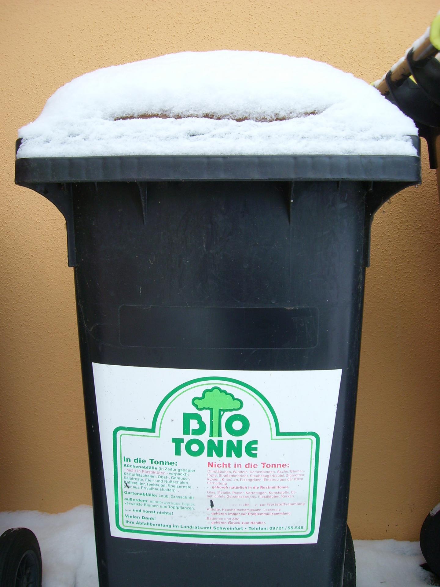 Biotonne im Winter