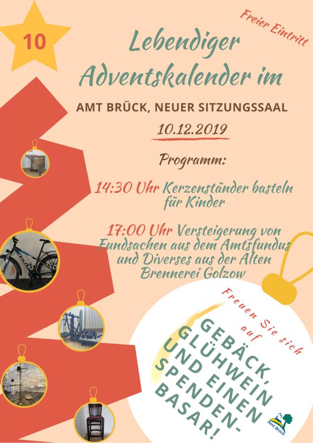 """Programm """"Lebendiger Adventskalender"""" 10.12.2019"""