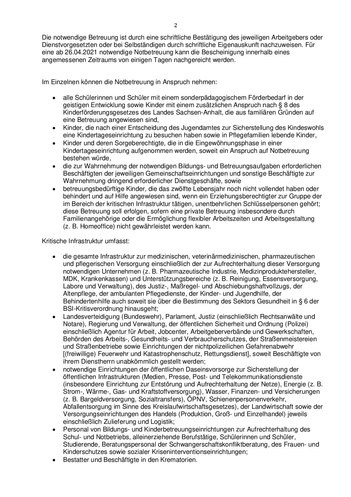 Regelungen zum Notbetrieb in Kindertageseinrichtungen-002