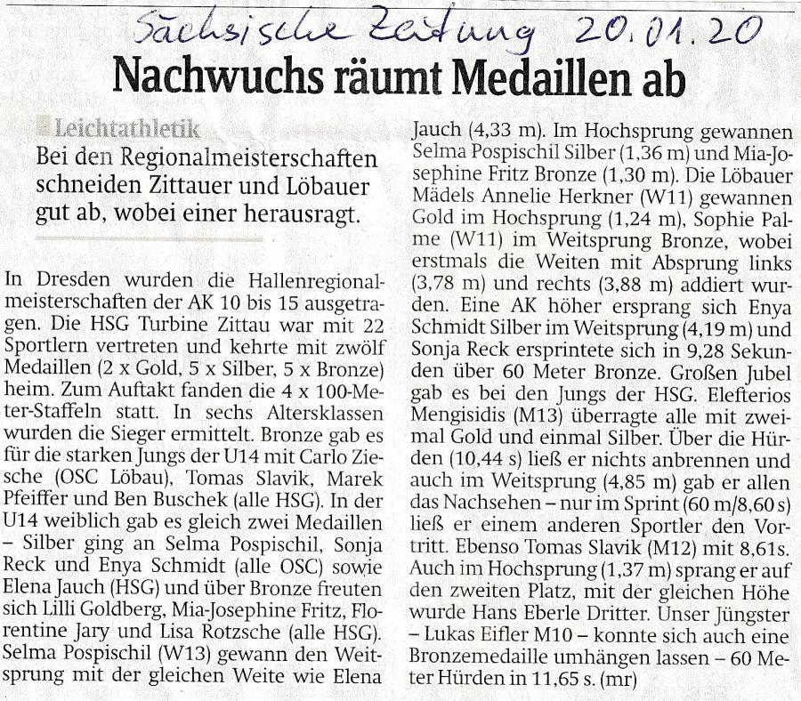Ostsächsische Hallenmeisterschaften