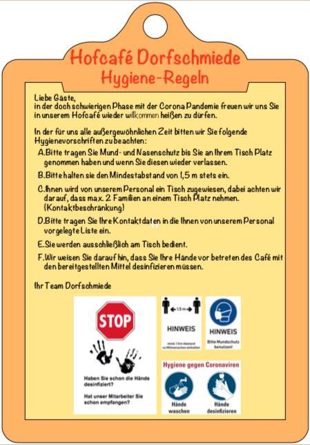 Corona Hygiene Regeln