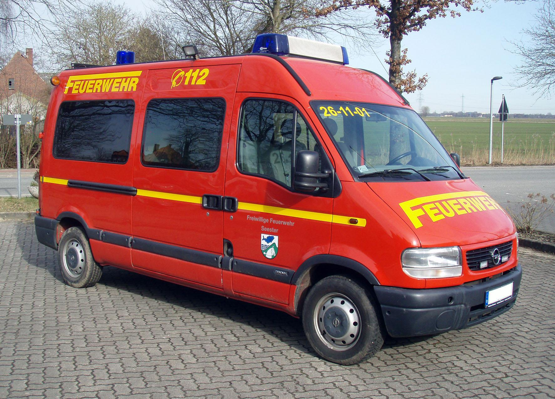 Opel Movano Feuerwehr