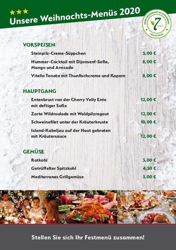 Unsere Weihnachts-Menüs 2020 1/2