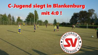 Foto zur Meldung: 1. Saisonsieg für unsere C-Jugend in Blankenburg