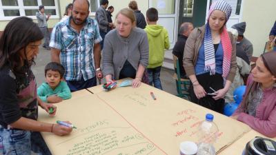 Foto zu Meldung: Willkommen im Internationalen Cafe in Rehfelde