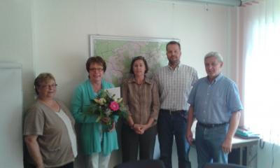 Foto zur Meldung: Heike Kohlmeyer feiert 40-jähriges Dienstjubiläum