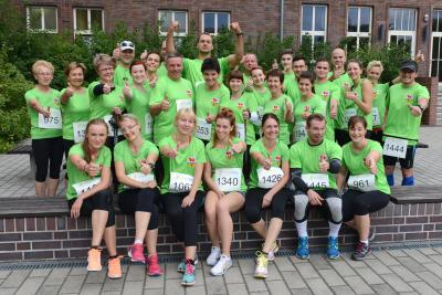 Foto zur Meldung: Wir gratulieren: Team OSL holt Sieg beim RWK-Firmenlauf