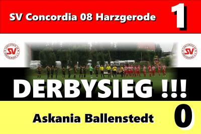 Foto zur Meldung: Harzoberliga: Derbysieg im Heimspiel gegen Ballenstedt