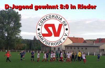 Foto zur Meldung: D-Jugend gewinnt 8:0 in Rieder !