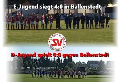 Foto zu Meldung: E-Jugend siegt in Ballenstedt - D-Jugend mit Unentschieden