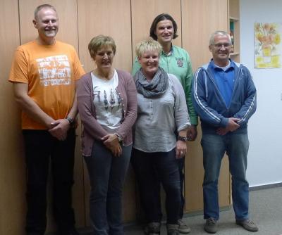 Der alte und neue Vorstand (v.l.n.r.): Frank Frühling, Vera Hansen, Birte Schreiber, Bernd Christen, Gerhard Muhl (nicht im Bild: Karin Daniel-Schulze)