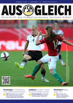 """Foto zur Meldung: Magazin des Fußballverbandes Sachsen-Anhalt """"AUSGLEICH"""", Ausgabe 3/2015, erschienen"""