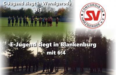 Foto zu Meldung: E-Jugend u. C-Jugend siegen in Blankenburg bzw. Wernigerode