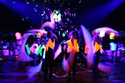 Foto zur Meldung: Calauer Grundschüler im Scheinwerferlicht der Manege