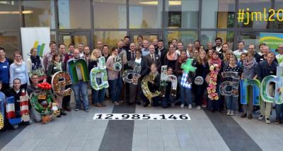 Foto zur Meldung: Landjugend erarbeitet Wertschöpfung in Höhe von knapp 13 Mio. € und gewinnt Wette mit Ministerin