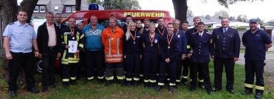 Foto zur Meldung: Funkübung der Feuerwehren - Mackendorf siegt beim Wettbewerb