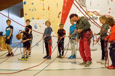 Foto zur Meldung: KletterCamp 2015: Mit Ausdauer und Köpfchen hoch hinaus