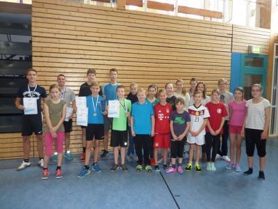 Foto zur Meldung: Hervorragende  Ergebnisse beim Hochsprungwettkampf der Stralsunder Schulen